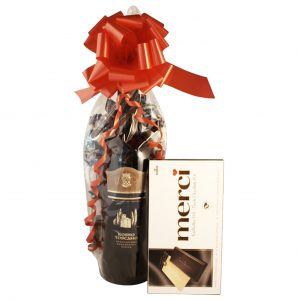 wine and chocolate gift
